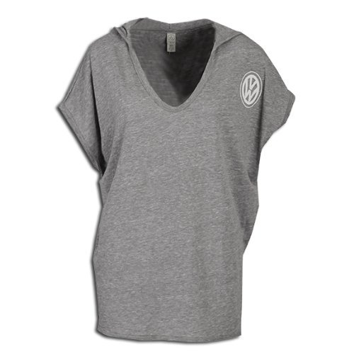 Genuine Volkswagen Eco-Friendly Relax Poncho Tee Shirt - Gray front-73070