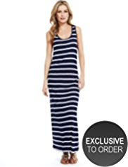 M&S Collection Racer Back Striped Maxi Dress