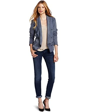Diesel Women's De-Lois Jacket, Blue, Small