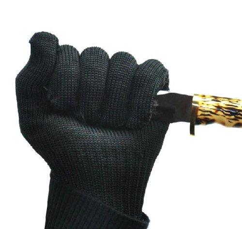 Crazy Shopping Black Guard Against Knife Anti Cut Gloves