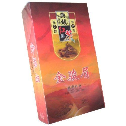 Jin Jun Mei Organic Golden Eyebrow Wuyi Black Tea Breakfast Tea Chinese Organic Red Tea 150G (5G/Bag *30 Bags)