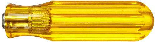 "Xcelite 991V Regular Handle For Series 99 Interchangeable Blades, 4"" Diameter, 13/16"" Length, Amber Handle front-712021"