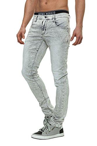 Antony Morato Jeans da uomo Pantaloni Denim Grigio (9015) W34