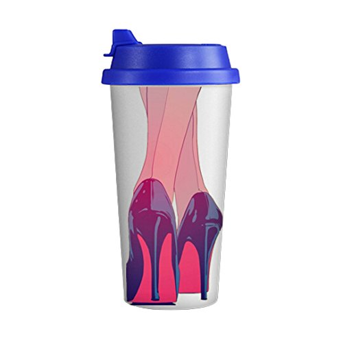 Fashionable High Heels for White Drinkware Double Wall Tall Coffee Milk Mug Cup 500ML (High Heel Insulated Cup compare prices)