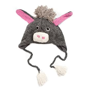 Knitting Pattern For Donkey Hat : Amazon.com: Accessoryo Womens Wool Handmade Knitted ...