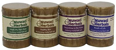 Nuwati Herbals Drummie Bath Salt Assortment, 4-Count, 4-Ounce (Pack of 2) from Nuwati Herbals