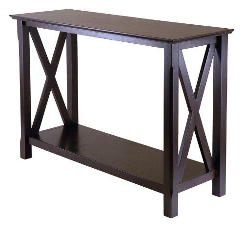 "X Cappuccino Sofa Table (Cappuccino) (30""H x 45""W x 15.98""D)"