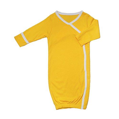 Babysoy Baby Girls' Os Kimono Bundler 0-3 Months Yellow front-398552