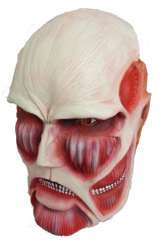 Attack on Titan Colossal Titan Rubber Mask and Costume
