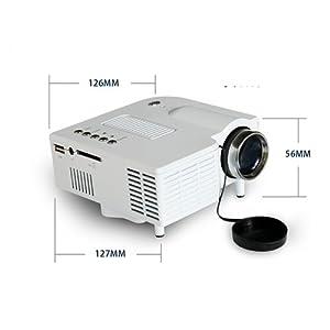 Zelecam - Portable Mini Vidéoprojecteurs LED LCD avec VGA Entrée USB Support SD et haut-parleur intégré