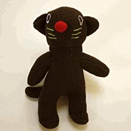 Sckoon Organic Cotton Brown Cat Doll