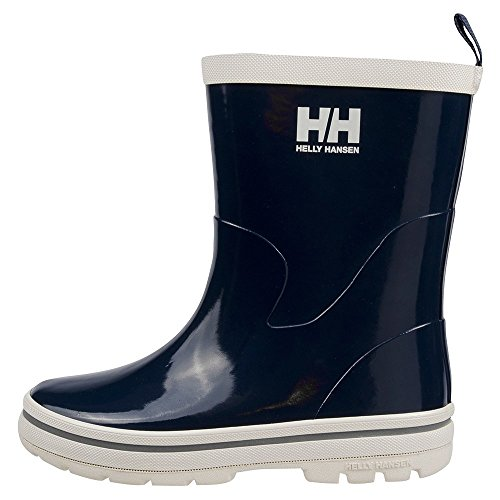 Helly Hansen JK Midsund Rain Boot (Toddler/Little Kid/Big Kid), Navy/Off White/Silver, 1 M US Little Kid (Silver Blue Rain Boots compare prices)