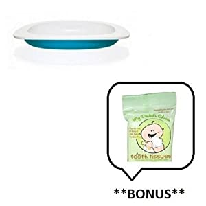 Fabrikators/Toddler Plate (Color: Blue) with **BONUS** Sample of Tooth Tissues