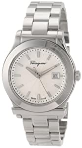Salvatore Ferragamo Women's F63SBQ9902 S099 1898 Steel Bracelet Date Watch from Salvatore Ferragamo