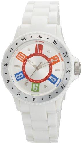 L by ELLE Women's LE50002P01 White Plastic Watch