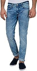 Locomotive Men's Straight Fit Jeans (15140001455965_LMJN003926_34W x 32L_Indigo)