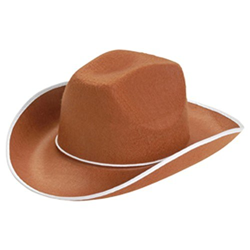 Brown Cowboy Adult Hat Western Costume Cowgirl Sheriff Woody
