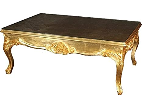 Casa Padrino Baroque coffee table Gold 140 x 80 cm - living room coffee table furniture