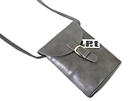 LefRight Grey Casual Fashion Carrying PU Leather Pouch with Strap