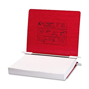ACCO Pressboard Hanging Data Binder, 8.5 x 11 Inches Unburst Sheets, Executive Red (54129 )