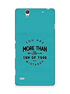 AMEZ you are more than the sum of your mistakes Back Cover For Sony Xperia C4
