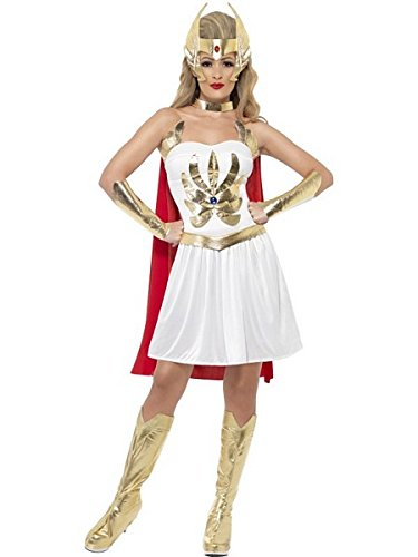 Smiffys Women's White/Gold/Red She-ra 80s Cartoon Costume - S, M or L