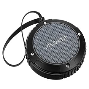 Archeer Waterproof Speaker Portable Outdoor Bluetooth Speaker With Bass For iPhone 6/6S Plus Samsung(Black)