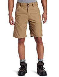 Carhartt Men\'s Canvas Work Short B147,Dark Khaki,40