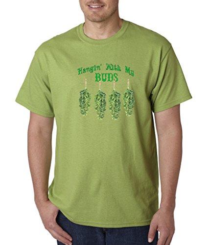 Marijuana-T-Shirt-Hangin-With-My-Buds-Roach-Clips-Pot-Smoking-Funny-Kiwi-S