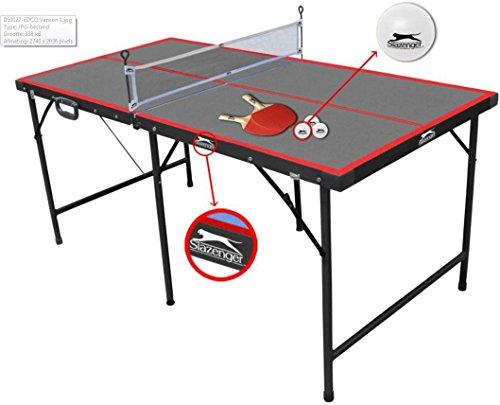 Slazenger - Tavolo pieghevole da ping pong per bambini, da interno, 1,5 m