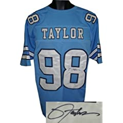 Lawrence Taylor Autographed Hand Signed North Carolina Tarheels Blue Custom Jersey-...