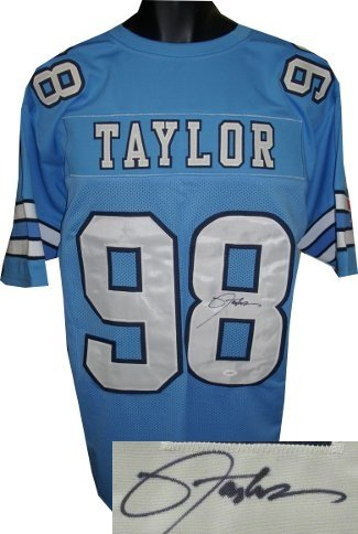 Lawrence Taylor Autographed/Hand Signed North Carolina Tarheels Blue Custom Jersey- JSA Hologram at Amazon.com