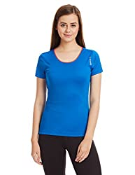 Reebok Women's Logo T-Shirt (AE8373_Blue_X-Small)