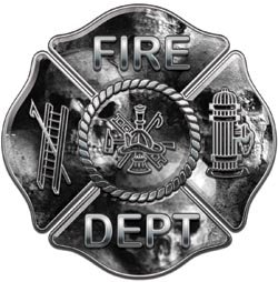Fire Dept Maltese Cross Gray Skulls - 12