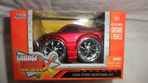 JADA GARAGE WORX RED 2006 FORD MUSTANG GT DIE-CAST REPLICA, JADA DIE-CAST