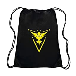 Pokemon Team Instinct Gym Drawstring Bag (Black/Yellow)
