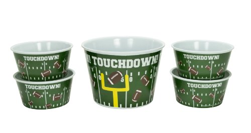 Boston Warehouse Touchdown Popcorn Serving Set