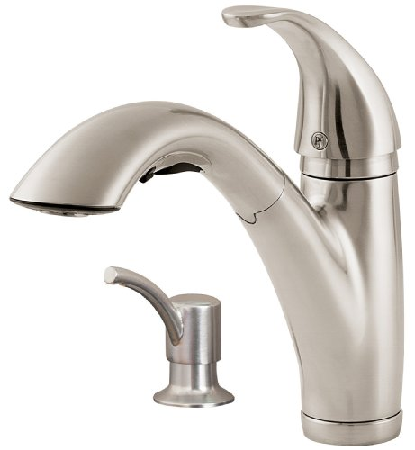 Price Pfister F5347PSS Parisa 2 or 4-Hole Kitchen Faucet, Stainless Steel