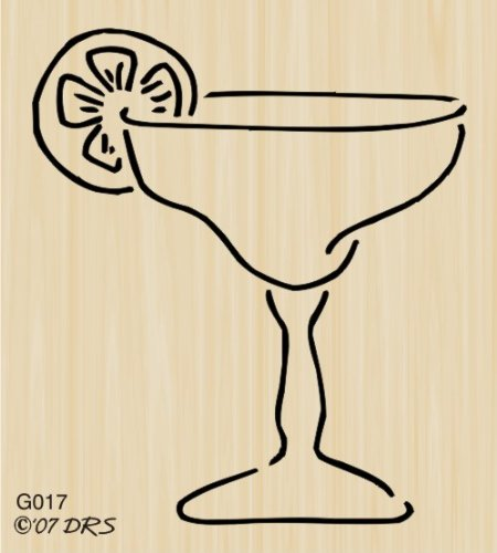 Margarita Glass Rubber Stamp By DRS Designs (Margarita Stamp compare prices)
