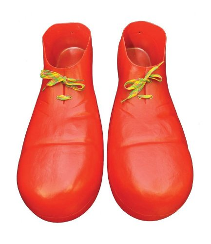 Plastic Red Clown Shoes 16 in