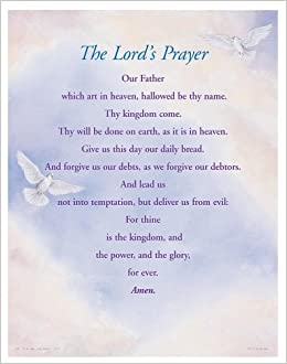 The Lord's Prayer Large Poster: Grace Publications