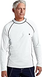 Coolibar UPF 50+ Men's Long-Sleeve Swim Shirt (Large - White)