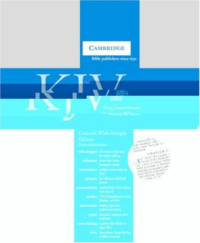 KJV Concord Wide Margin Reference Edition with Glossary and Concordance Black calfskin KWM267