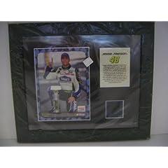 JimmIE Johnson Plaque w Tire Piece Race Win The Brickyard by NASCAR
