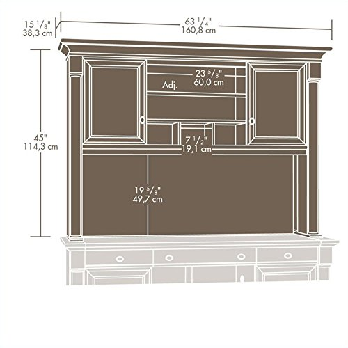 Sauder Palladia Hutch Does Not Include Desk In Select