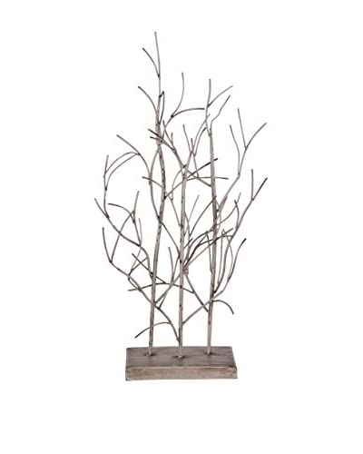 Small Wood Tree Table Decoration, Brown