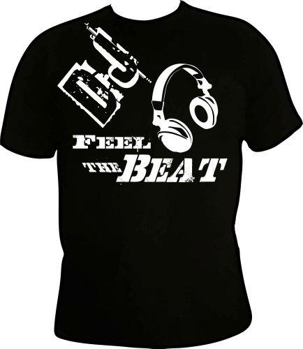DJ-Feel-the-Beat-Fanshirt-Herren-T-Shirt-Musik-Fun-Shirt-Kult-Sprche