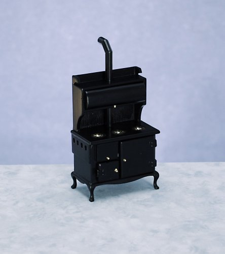 Dollhouse Miniature Black Wood Stove front-625415
