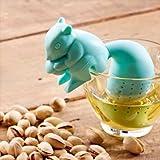 KABOOCHY Squirrel Tea Infuser, Loose Leaf Tea Strainer, blue color