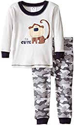 Gerber Baby Boys\' Cute Me 2 Piece Cotton Pajama, Monkey, 18 Months